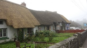 Thatched roof house in Adare, Ireland