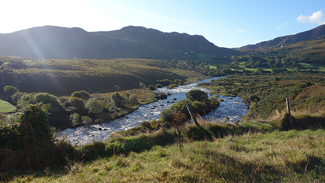 River Caragh on the Ring of Kerry in Ireland