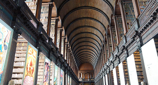 Trinity LIbrary in Dublin, Ireland