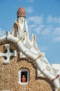 Gaudí's work is full of shapes and colors