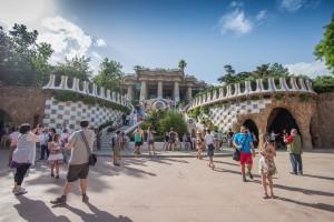Admiring Gaudí's work in Park Güell