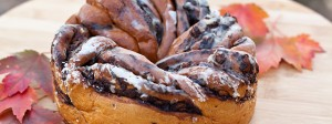 Chocolate babka is a popular treat in Poland