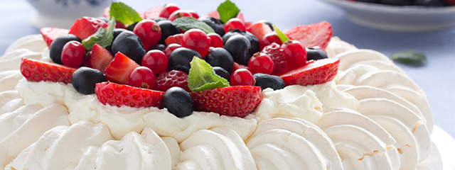 Pavlova is a famous dessert in Australia and New Zealand