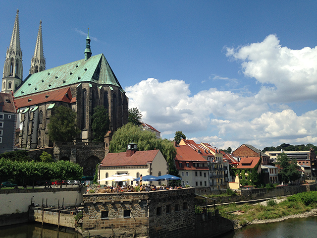 The town of Gorlitz sits on the border of Germany and Poland.