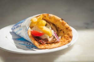 Delicious gyros make a great on-the-go lunch