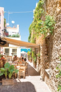 A cafe in Chania