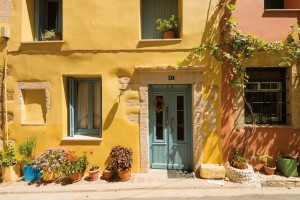 A colorful home in Chania