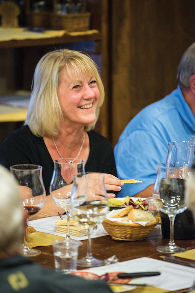 Wine tasting in San Gimignano, Tuscany, Italy