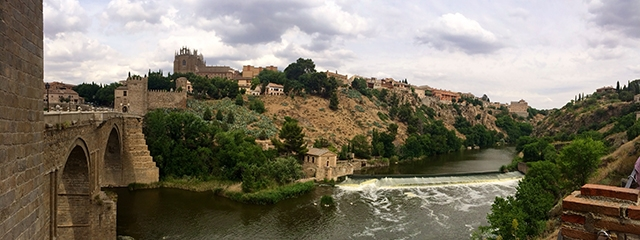The Tagus River flows through Toledo, Spain