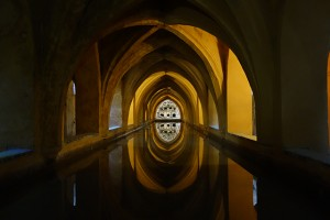 The Baths of Doña Maria de Padilla in the Royal Alcazar of Seville, Spain