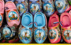 Traditional clogs for sale in Delft