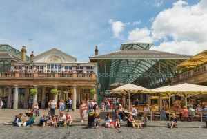 Heading into lively Covent Garden Market