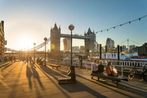 The Tower Bridge at sunset