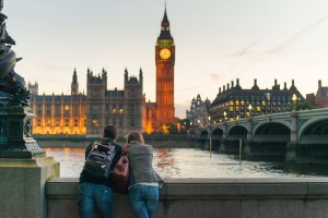 Admiring Big Ben from the other side of the River Thames