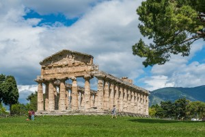 The third Greek temple in the Paestum Ruins