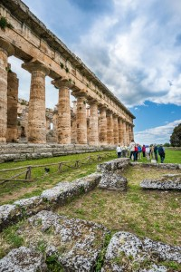 The Greek temples were build on pedestals