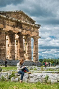 The uncrowded setting of the Paestum Ruins