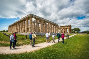 Three remarkably well-preserved Greek temples can be found in the Paestum Ruins