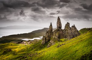 Old Man of Storr, a rock formation on the Isle of Skye