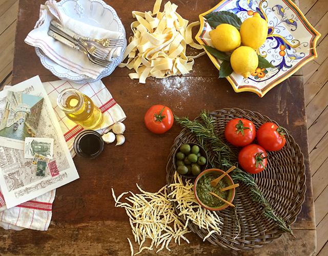 italy food photo shoot