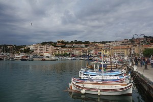 Cassis, France is home to calanques and many fishing boats.