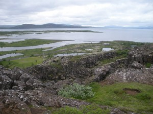Iceland sits on two continental plates in Thingvellir National Park