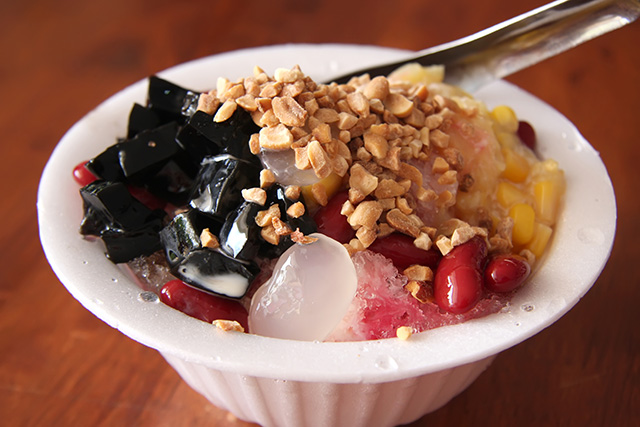Patbingsu dessert from South Korea