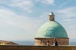 A copper dome in Cortona