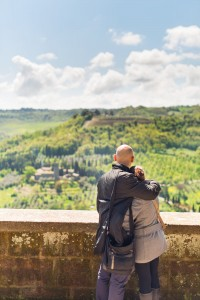 Overlooking Tuscany's iconic cyprus trees in Orvieto