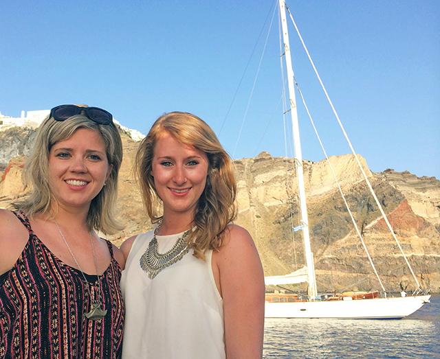 Jessie and Jenna in Santorini