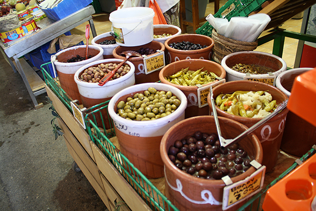 Greek olives, Chania, Crete, Greece