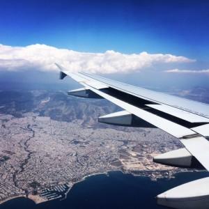 Overnight flight to Athens