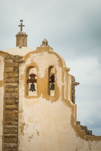 The sandy-colored architecture of the Algarve