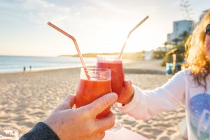 Frozen beach cocktails on the Algarve Coast