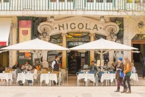 An outdoor cafe in Lisbon