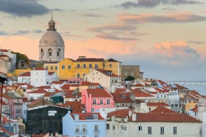 The colors of Lisbon at sunset