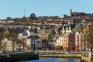 Overlooking the Cork cityscape