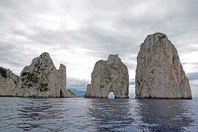 Capri Fraglioni rocks
