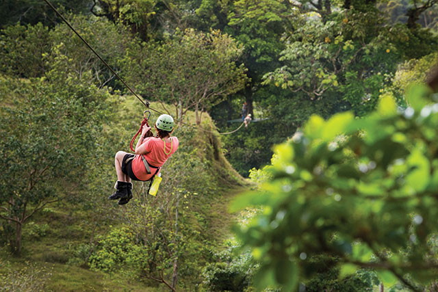 Ziplining tour in Costa Rica