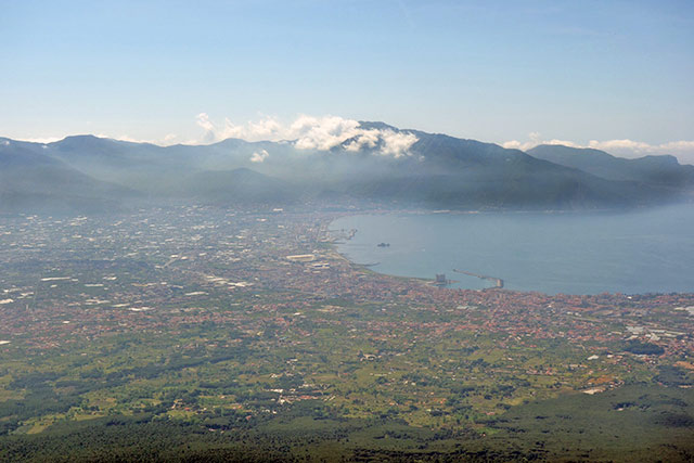 Overlooking Naples, Italy from the top of Mount Vesuvius