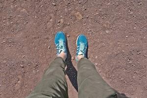 Walking to Mount Vesuvius near Pompeii, Italy