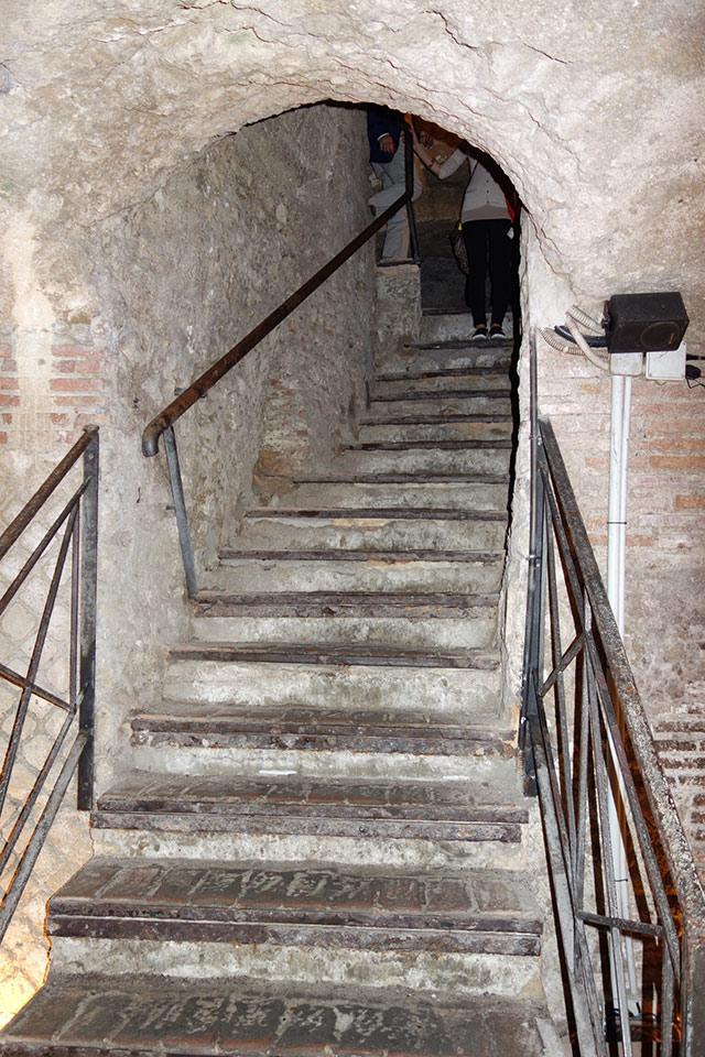Underground passageway in Naples, Italy