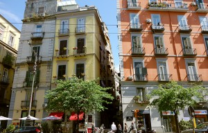 Buildings in Naples, Italy
