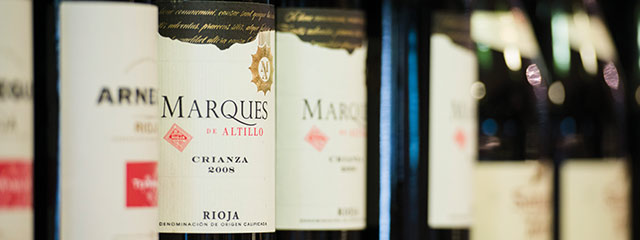 Spain's famous red wine from the Rioja region