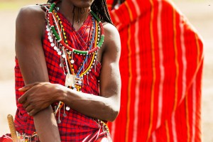The Masai often wear layers of intricate, colorful jewelry