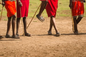 The iconic jump of the Masai Warriors