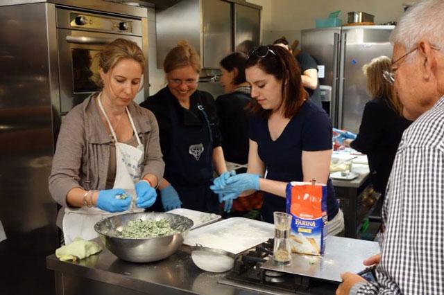 Italian cooking class gnudi