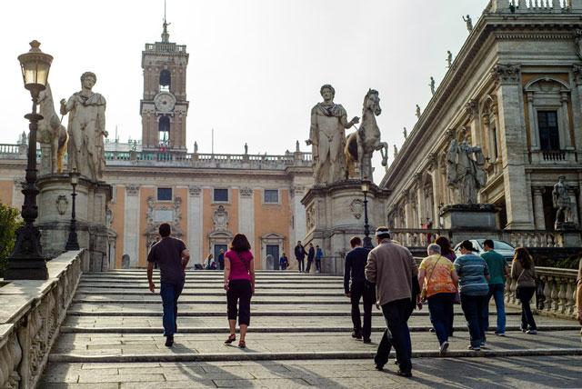 near the roman forum