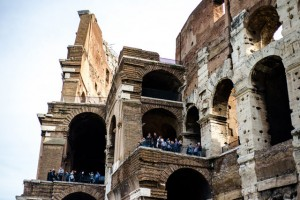 balcony at the colosseum