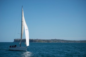 Sailing in the waters off Sydney